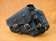 HIGH QUALITY LEATHER SINGLE SADDLEBAG PANNIER SOLO BAG HARLEY DAVIDSON SPORTSTER