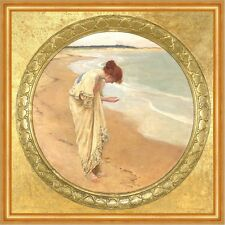 The sea hath its pearls William Margetson Perlen Strand Muscheln B A2 03518
