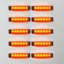 10x12v Led Yellow Side Marker Light Truck Trailer Lorry Waterproof Transporter
