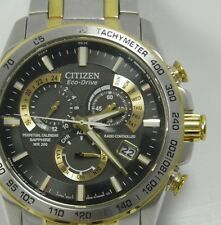 Mens Citizen Eco Drive Perpetual Calendar Chronograph Alarm E650 wrist watch