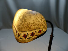 Rare Original Emeralite Floor Lamp with Acid Etched Bellova Shade ca 1920