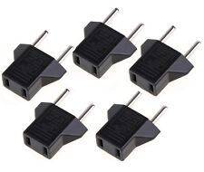 5pcs/lot US USA to EU Euro AC Power Wall Plug Converter Travel Adaptors IDXX