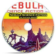 Nebula, 34 Classic Pulp Magazine, out of this world science Fiction DVD CD C48