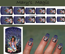 NAIL ART DECAL STICKERS WATER SLIDE Afro American Fairy Fantasy Mary Schempp
