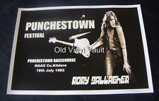 Rory Gallagher concert poster Punchestown Festival Co.Kildare Ireland 1982 repro
