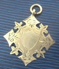 Attractive Sterling Silver Medal / Fob h/m 1910 Chester  -  not engraved