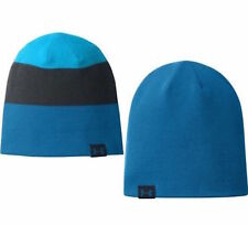 UNDER ARMOUR UA Men's 4-in-1 Reversable Striped Blue Grey Teal Knit Beanie Hat