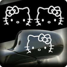 2pcs 3M Reflective Hello Kitty Side Door Wing Mirror Car Sticker Decal 01001