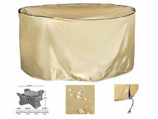 Outdoor/Porch Round Table and Chair Set Cover, Water&Fire Resistant, Extra Large