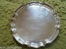 RARE  EPNS A1 Salver 20th British Coach Rally 1974 HUMPHREY THOMPSON TROPHY