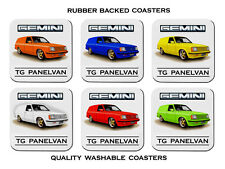 HOLDEN  TG  GEMINI  PANELVAN      SET OF  6   RUBBER DRINK  COASTERS