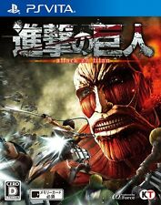 USED PS VITA Attack on Titan Shingeki no Kyojin Koei Tecmo Games Free Shipping