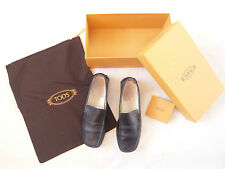 Tod's black leather loafer Leather lined VGC With dustbag + box Size 37 = UK 4