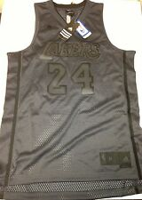 Authentic Kobe Bryant Adidas Swingman Mesh Jersey Los Angeles Lakers Charcoal 24