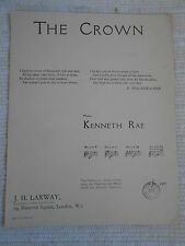 Sheet Music - The Crown by Kenneth Rae 1908 * Very Rare*