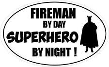 POMPIERE da giorno Supereroe-Fire / FIGHTER / EMERGENZA ADESIVO VINILE 16 CM X 9 cm
