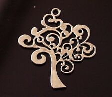 3x Tibetan Silver Family Tree of Life Charms Pendants 42mm (TSC19)