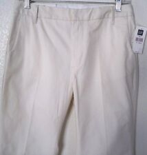 NEW GAP Pants Size 4A x 29.5'' Stretch Cotton Ivory Classic Fit Boot Cut $49.50