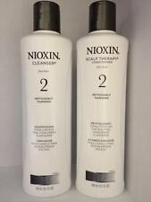 Nioxin System 2 Cleanser & Scalp Therapy for Fine Thinning Hair 10 oz Duo