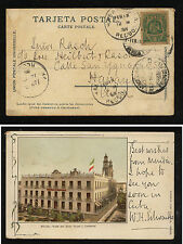 Mexico  nice color post card to Havana   1905  nice cancels       KL1229