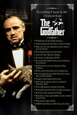 The Godfather every thing I know poster don Vito mob crime family cat advice New