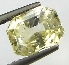 LAB CERTIFIED TOP GRADE 2.34Ct UNHEATED NATURAL CEYLON YELLOW SAPPHIRE