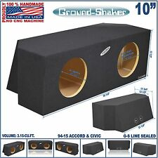 "10"" HONDA ACCORD & HONDA CIVIC SEALED SUB BOX SUBWOOFER ENCLOSURE GROUND-SHAKER"