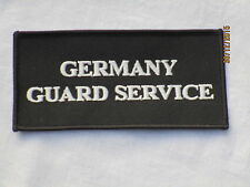 GERMANY Guard Service, TRF, patch, distintivi, 60x115mm
