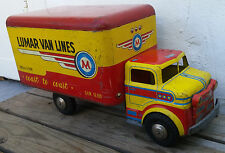Vintage Marx Lumar Van Lines Coast To Coast Pressed Steel Litho Toy Box Truck