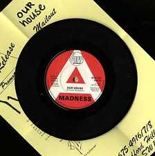 """MADNESS - OUR HOUSE - A LABEL 7"""" PROMO + PRESS SHEET - STIFF SUGGS TWO 2 TONE"""