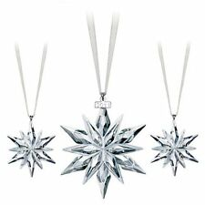 SWAROVSKI 2011 SET annual snowflake (3x) ornament brand NEW in box !!