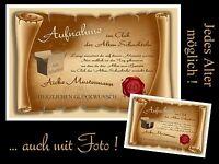"""Urkunde """"Club der alten Schachteln"""" 18 20 30 40 50 60 70 Geburtstag - TOP Design"""