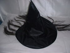 Kids Childrens Childs Witch Witches Hat with Hair For Costume Dress up
