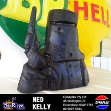NED KELLY WITH GUN STATUE MONEY BOX SIZE COLLECTABLE MAN CAVE AUSTRALIAN MADE