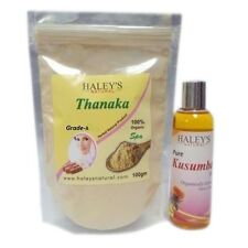 200 gm  Pure A Grade Thanaka Powder & 300 ml Kusumba oil For Hair Removal BURMES