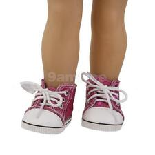 """Doll Lace Up Canvas Sneakers Sports Shoes for 18"""" American Girl Dolls Gifts"""