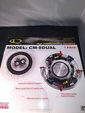 "Earthquake sound CM-8DUAL ,in Ceiling HT speaker (1) PIECE ""400 WATTS"""