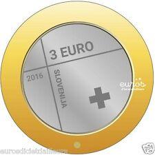Pièce 3 euros SLOVENIE 2016 - 150ème anniversaire de la Croix Rouge Slovène  UNC