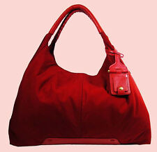 VINCE CAMUTO AMY Rio Red Nylon & Leather Tote Bag Msrp $198 *FREE SHIPPING*