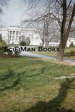 KODACHROME Red Border 35mm Slide Washington D.C. White House Trees Shrubs 1950s!