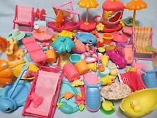 Littlest Pet Shop Lot A DAY AT BEACH Accessories 15 RANDOM Pieces Jet Ski, Chair
