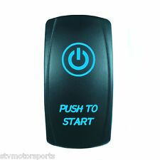 Polaris RZR 1000 BLUE ROCKER SWITCH LASER ETCHED 20A 12V PUSH TO START MOMENTARY