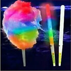 LIGHT UP COTTON CANDY CONES FLOSS WANDS LED 10 PACK GLO GLOW FREE SHIPPING