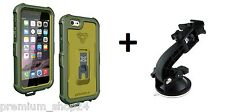 "Waterproof Protective Case & Car Holder for Apple iPhone 6 6S 4,7"" army green"