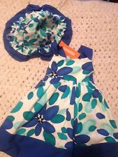 Gymboree Baby Girl 12-18 M Summer Floral Dress With Sunhat NWT