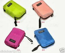 Travel Mate Compartment Organizer Toiletries MakeUp Cosmetic Pouch Bag-Fusha P
