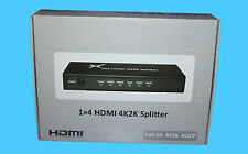 MAPLIN 4 Way 4K HDMI Splitter FULL 3D 4K2K HDCP - N67DV -  RRP= £89.99 - NEW