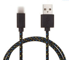 1pza Cables Del De Datos Carga para iPhone5/6 Móvil Nylon Cuerda Negro