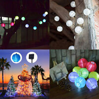 10 20 LED Solar Fairy Lantern String Lights Garden Party Xmas Outdoor Party Lamp