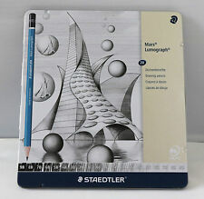 Staedtler Mars Lumograph NEW ITEM Tin of 20 Assorted Drawing Pencils G20 Not G19